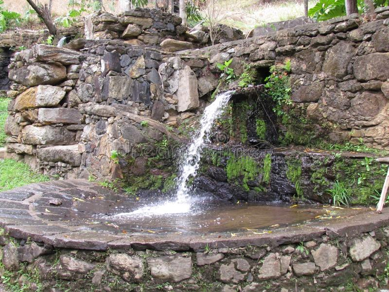 Water powered mill diverted from the river.  royalty free stock photography