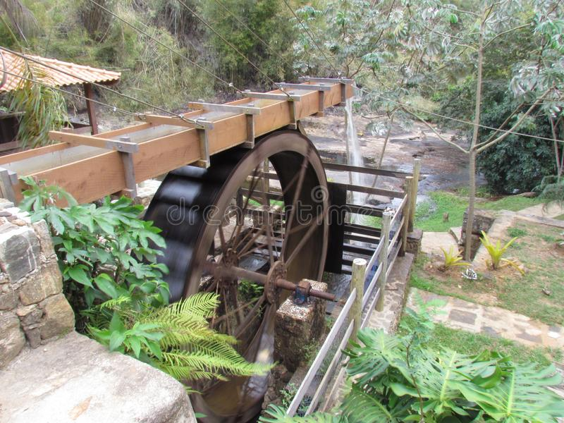 Water powered mill diverted from the river.  royalty free stock photos