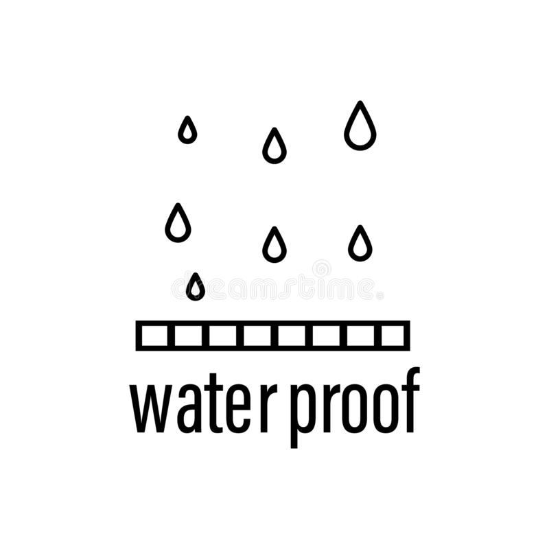 Water proof icon. Element of raw material with description icon for mobile concept and web apps. Outline water proof icon can be. Used for web and mobile on royalty free illustration