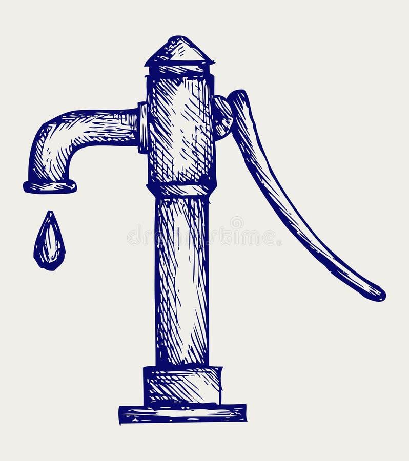 Water pumpar vektor illustrationer