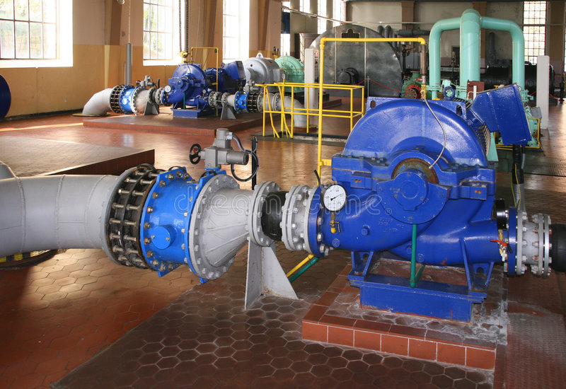 Water pumping station royalty free stock images
