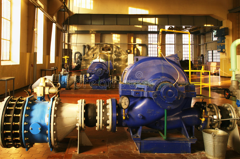 Download Water pumping station stock image. Image of valve, industrial - 3731351