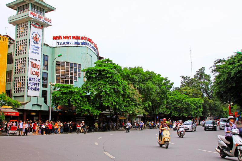 Water Puppet Theatre In Hanoi, Vietnam royalty free stock photo
