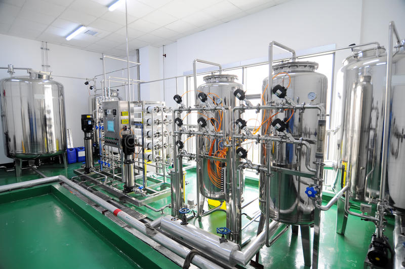 Water purification equipment royalty free stock photography