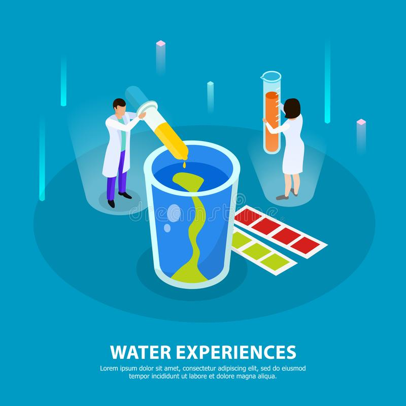 Water Purification Isometric Composition vector illustration