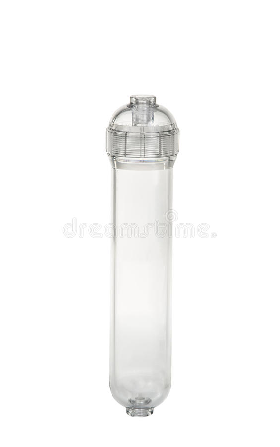 Water purifier filter isolation on white stock photography