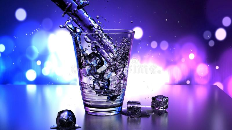 Water, Purple, Violet, Glass stock photo
