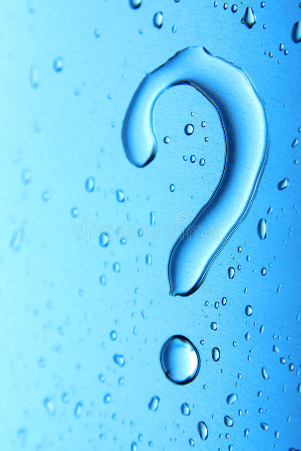 Water Question stock photos