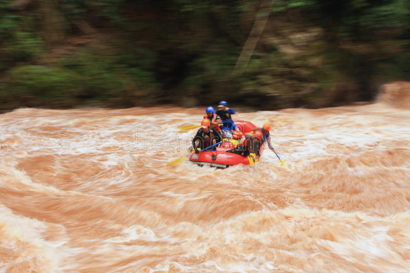 Water rafting. At Wa River, Thailand royalty free stock photography