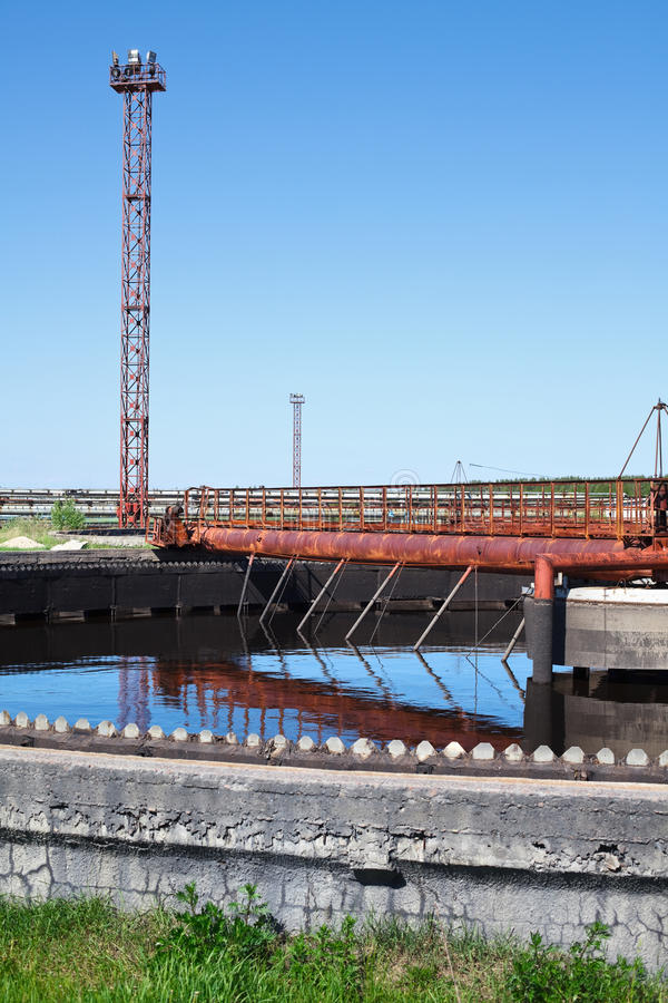 Water recycling sewage building royalty free stock photos