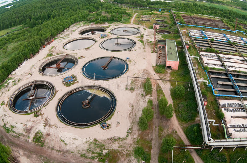 Water recycling sewage station royalty free stock image