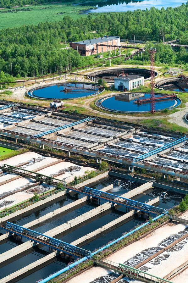 Water recycling sewage station royalty free stock photography