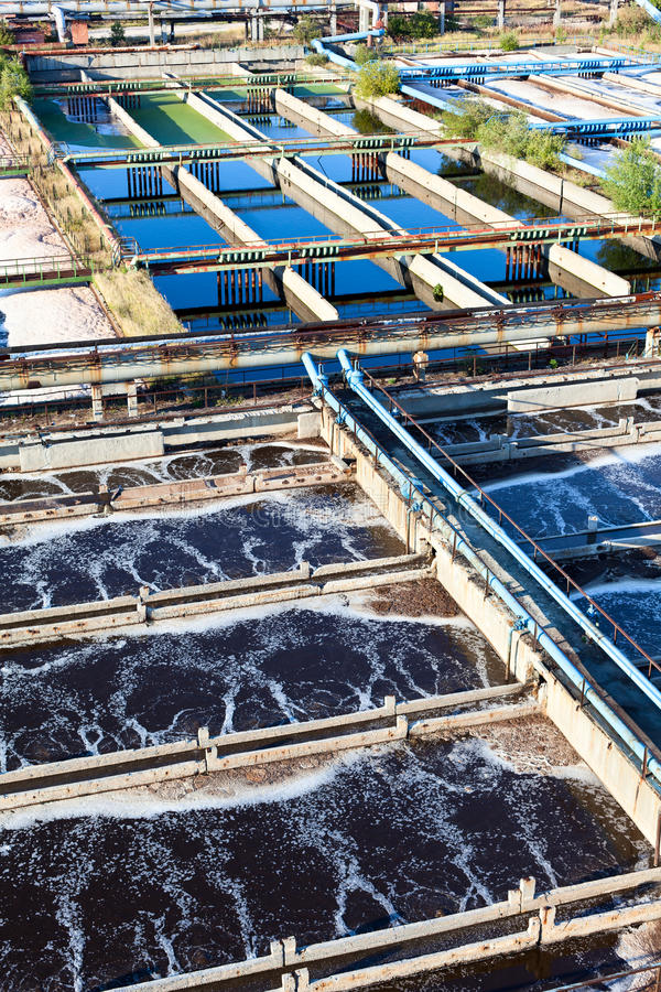 Water recycling sewage station stock photography