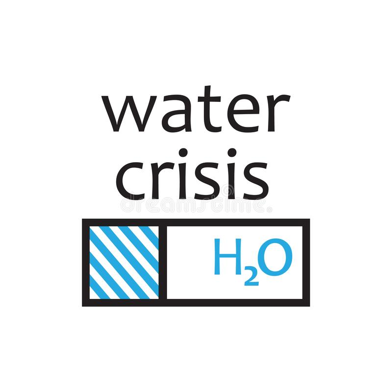 Water reduction and water crisis. vector design illustration.  vector illustration