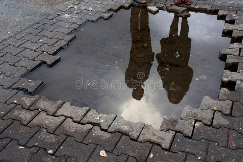 Water, Reflection, Asphalt, Road Surface royalty free stock photo
