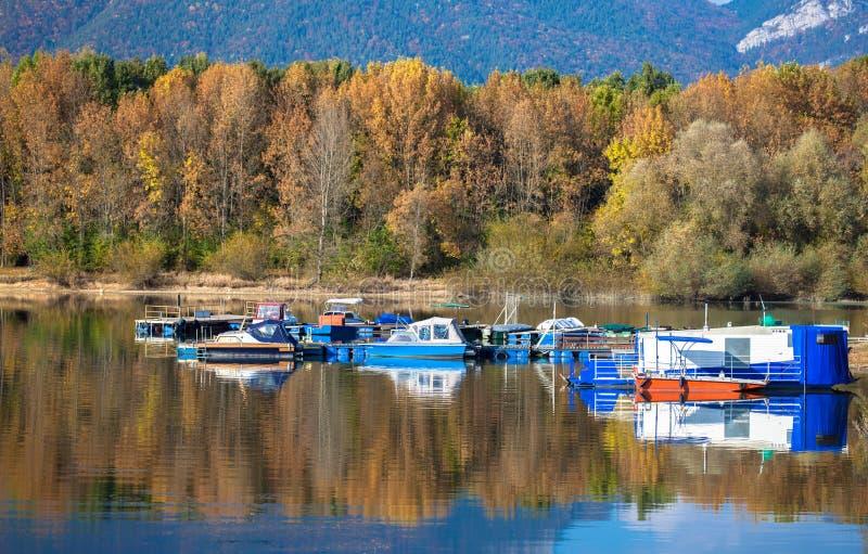 Water reflection - lake Liptovska Mara, Slovakia stock photos