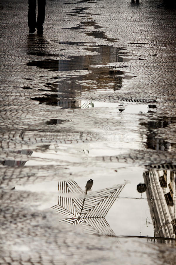 Free Water Reflection On The Street Stock Images - 14302984