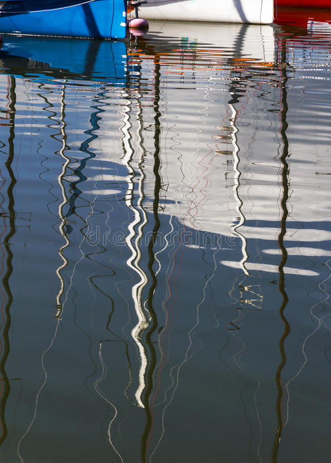Water reflections. stock photo