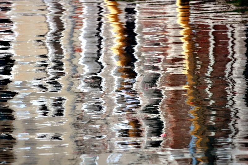 Water Reflections serie 2017. Like Impressionist .water Reflections royalty free stock photography