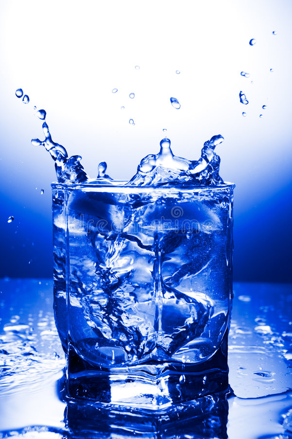 Water refreshing stock photography