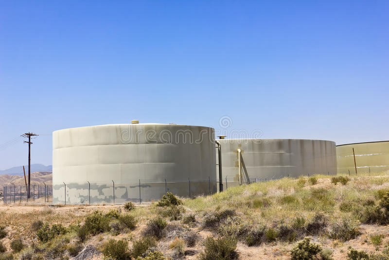 Water Reserve Tanks stock photo