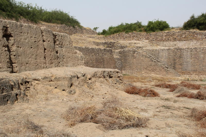Water Reservoir Of Harappan Civilization Site Stock Photo