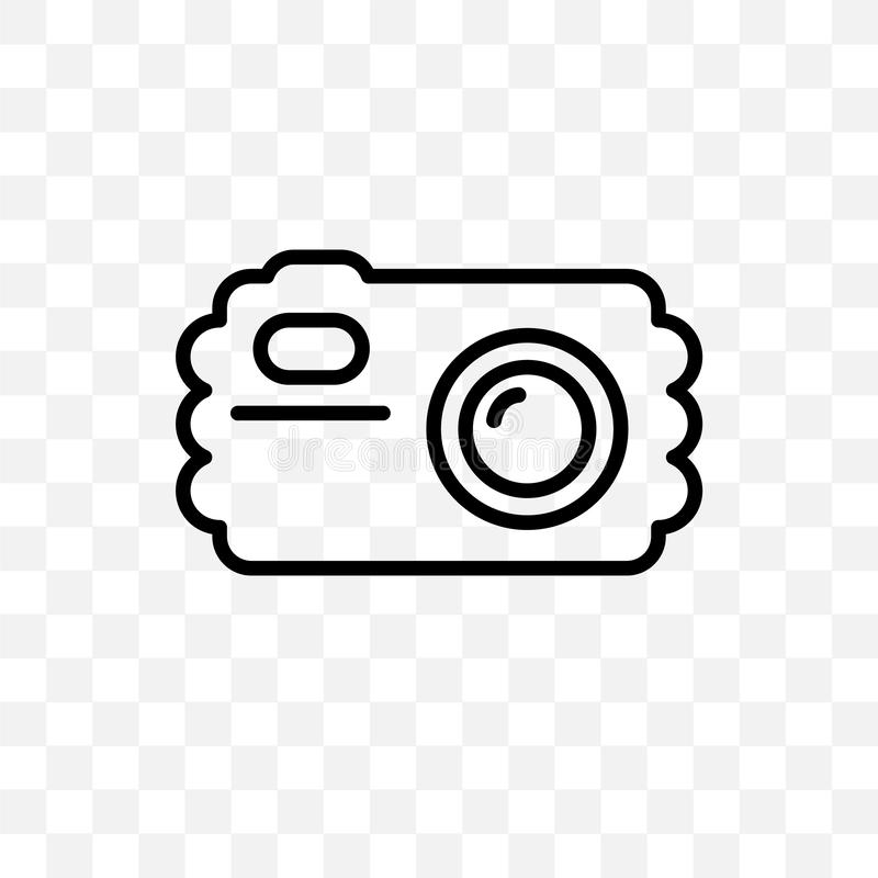 Water Resist Camera vector linear icon isolated on transparent background, Water Resist Camera transparency concept can be used fo. R web and mobile vector illustration