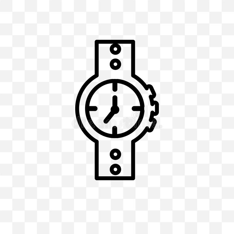 Water Resist Watch vector linear icon isolated on transparent background, Water Resist Watch transparency concept can be used for. Web and mobile vector illustration