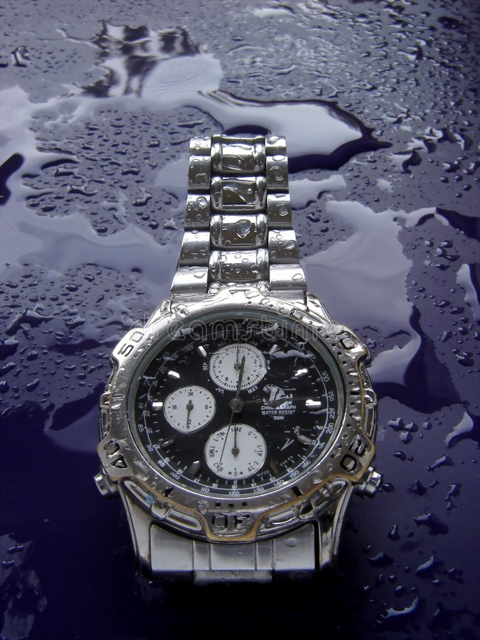 Download Water resistant watch stock photo. Image of minute, aluminium - 1443328
