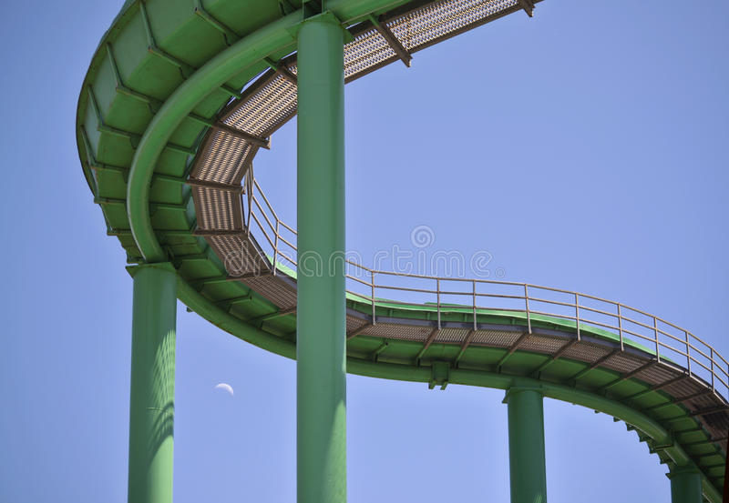 Water Ride from Underneath stock image