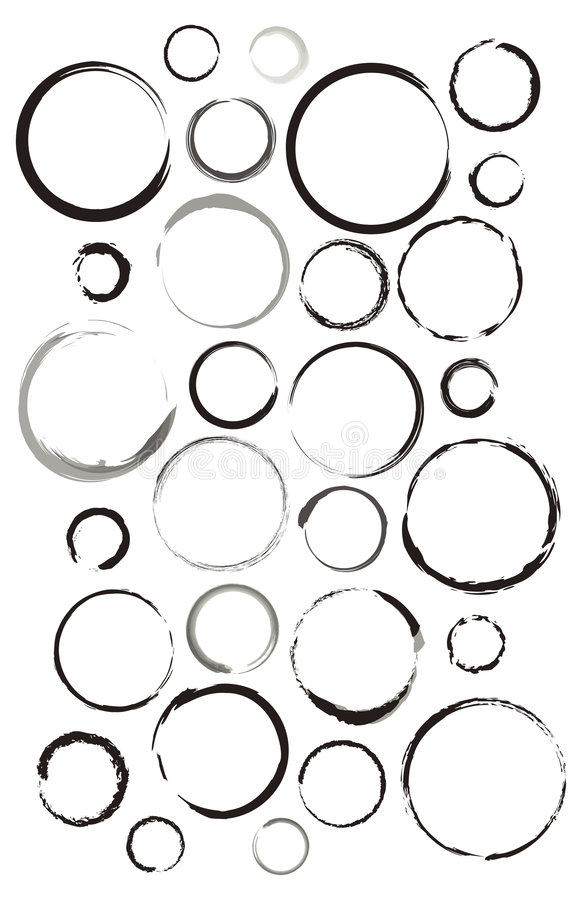 Water Rings Set stock images