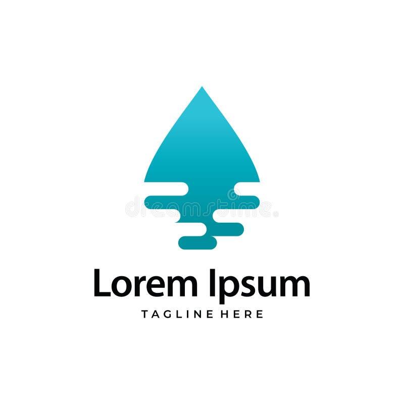 Water Ripple Blue Ocean. Logo vector illustration