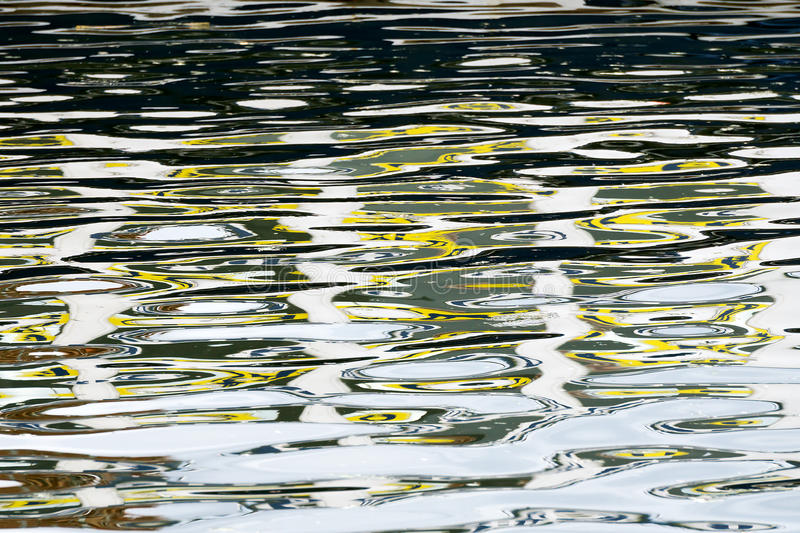 Water ripple reflections. Abstraction with water ripple reflections royalty free stock photos