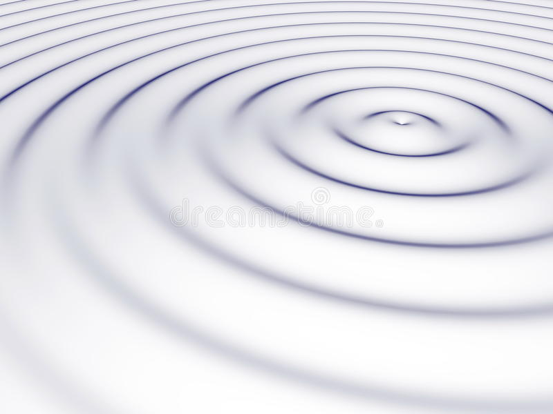 Water ripples royalty free illustration