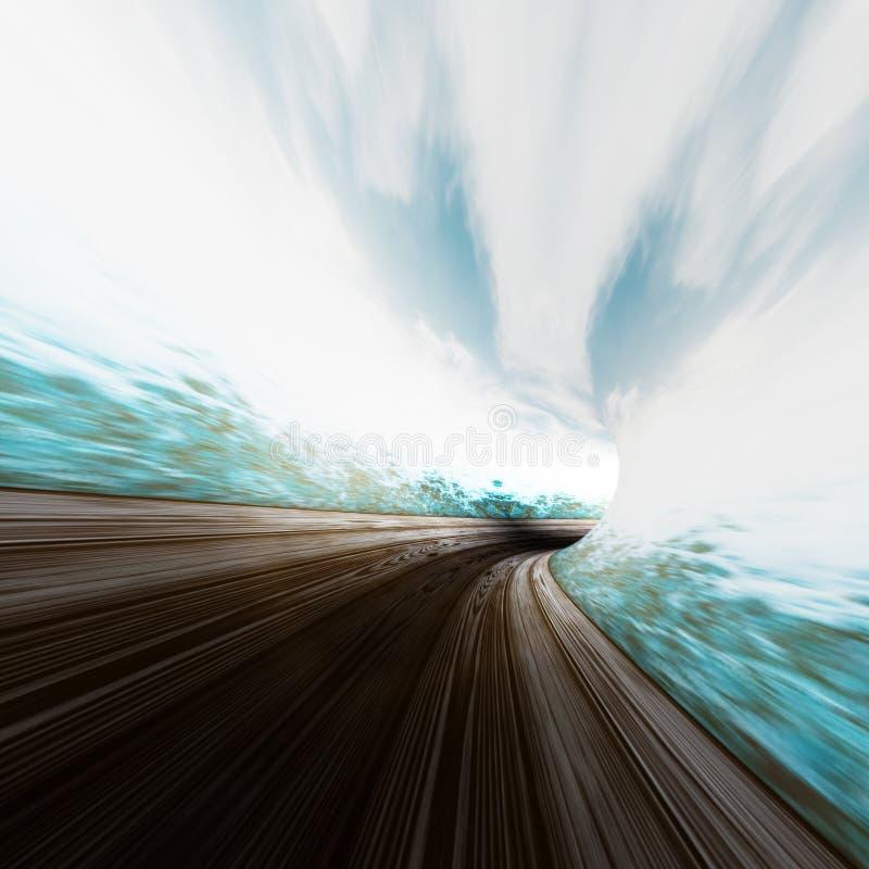 Water road abstract. Mixed media stock image
