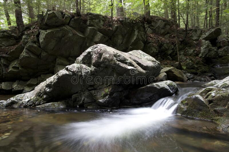 Water Running Through Rocky Terrain In The Woods Free Public Domain Cc0 Image