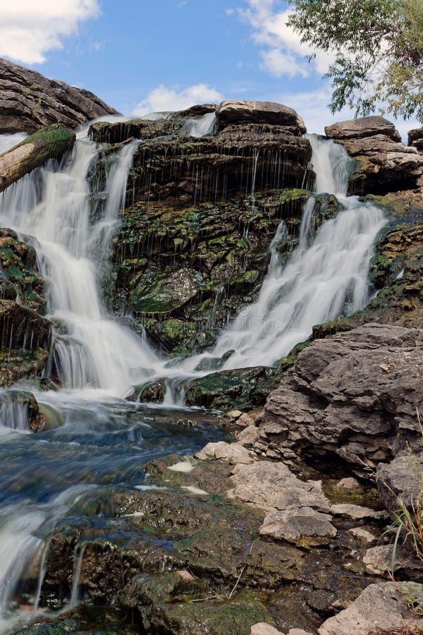 Lake MacBride State Park Waterfall royalty free stock photos