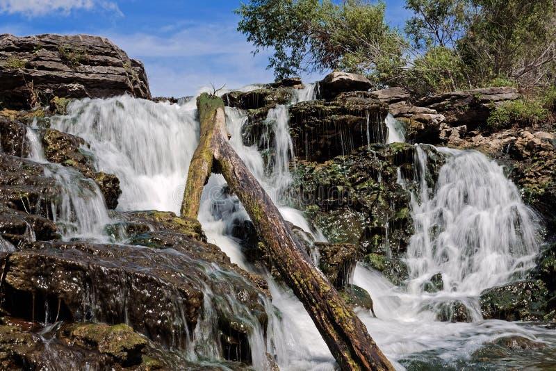 Lake MacBride State Park Waterfall stock photos