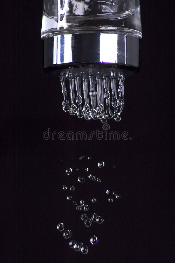 Water salt in Black stock image