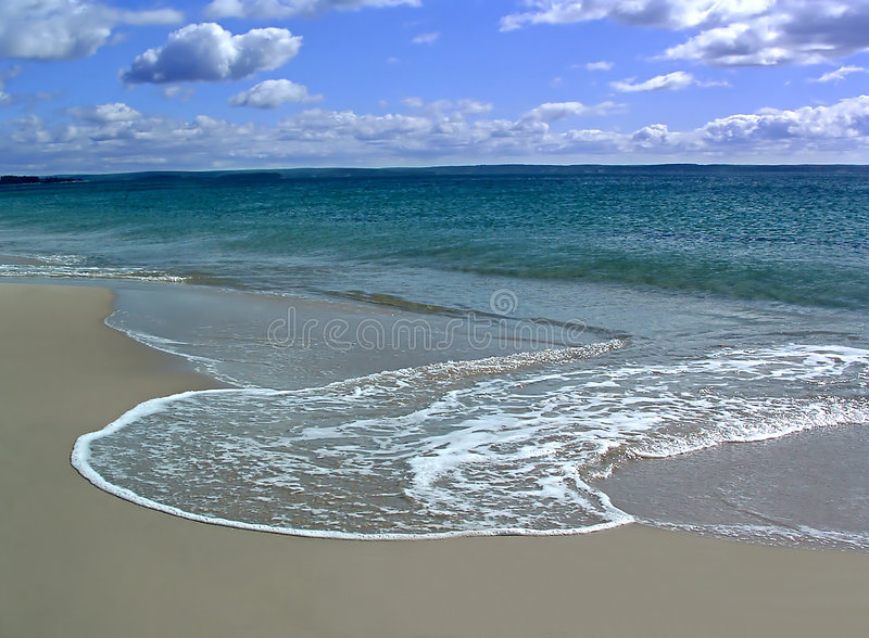 Water and Sand stock images
