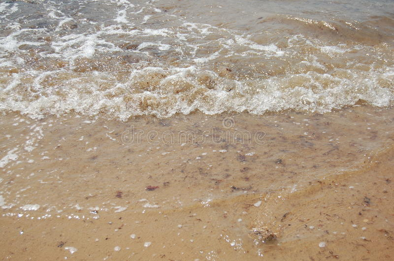 Water and sand royalty free stock images