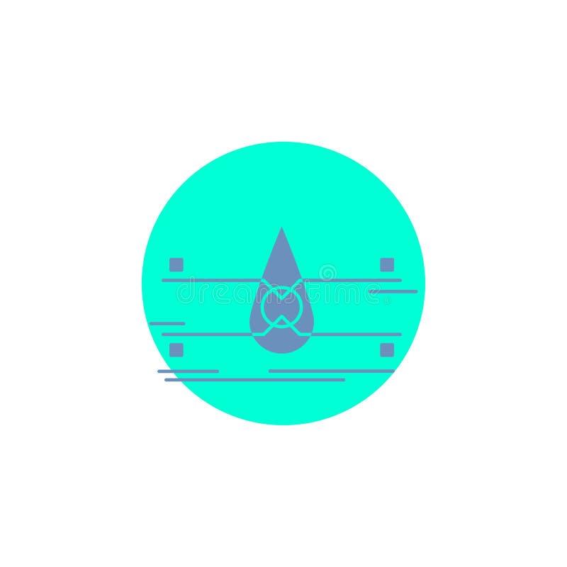 water, Schone Controle, Veiligheid, het slimme Pictogram van stadsglyph royalty-vrije illustratie