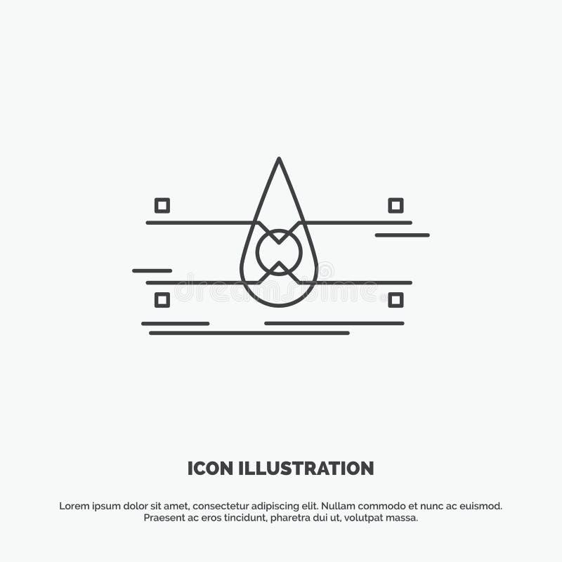 water, Schone Controle, Veiligheid, slim stadspictogram Lijn vector grijs symbool voor UI en UX, website of mobiele toepassing royalty-vrije illustratie