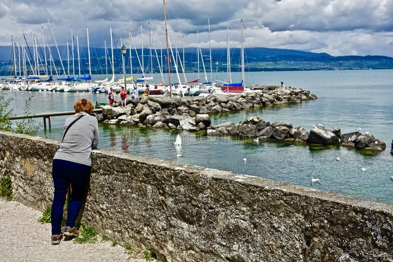 Water, Sea, Sky, Boat royalty free stock photos