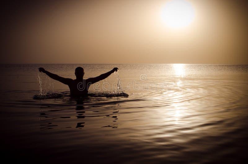 Water, Sea, Sunrise, Calm stock image