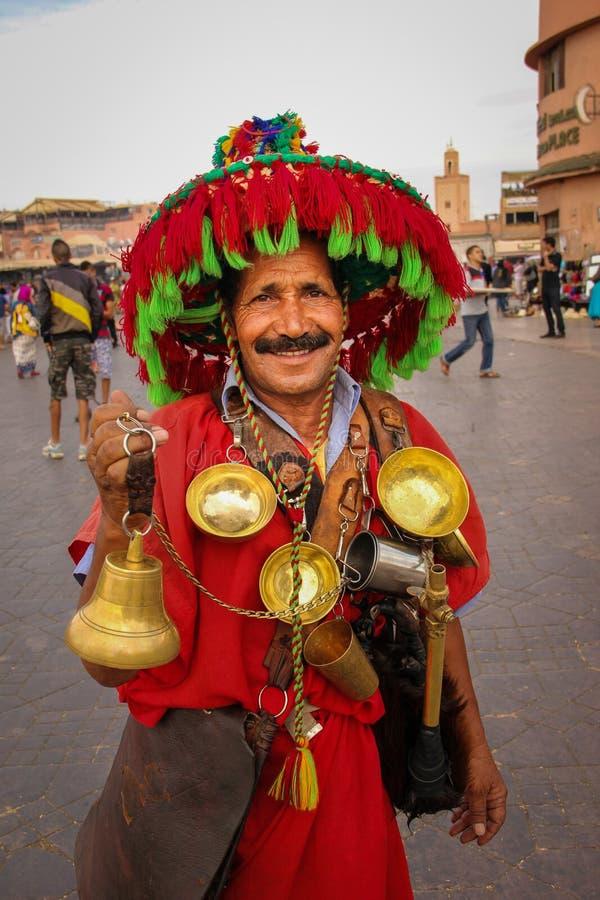 Water seller. Djemaa el Fna square. Marrakesh. Morocco royalty free stock photos