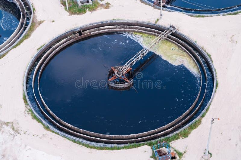 Water sewage big diameter circle royalty free stock images