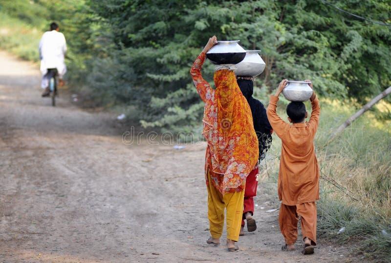 Water Shortage Pakistan. Near Lillah City, Pakistan. Water shortage royalty free stock photo