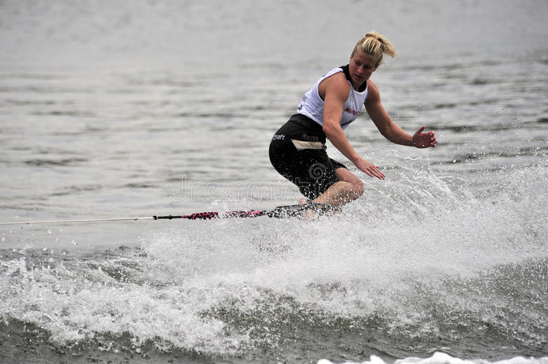 Water Ski World Cup 2008: Woman Shortboard Tricks Editorial Stock Photo