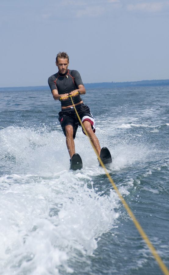 Download Water skiing stock image. Image of speed, drops, body, waterski - 820991